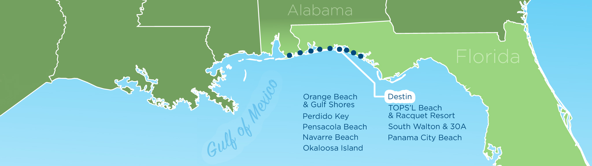 Map Of Panhandle Florida.Resortquest Real Estate Nw Fl Al Gulf Coast Condos And Homes For