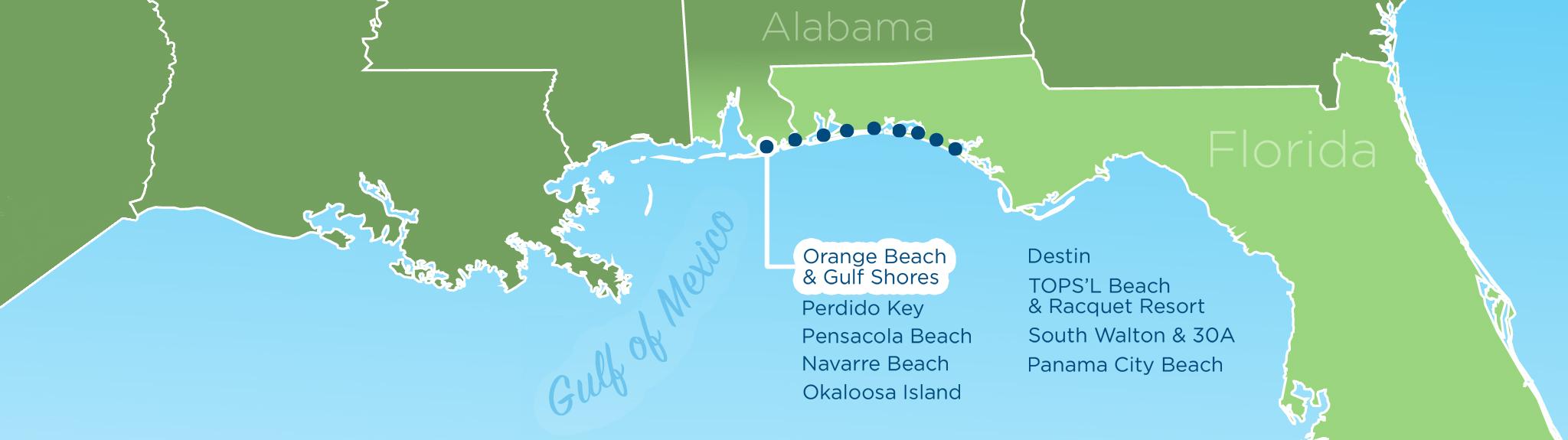 ResortQuest Real Estate NW FL  AL Gulf Coast Condos And Homes - Florida map destin beach