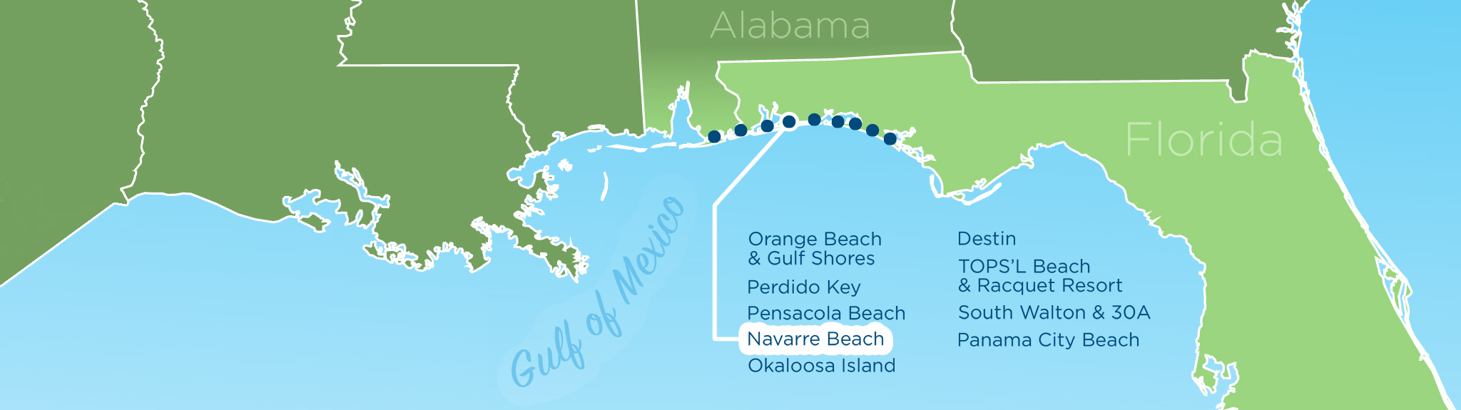 ResortQuest Real Estate NW FL AL Gulf Coast Condos And Homes - Gulf map of panama